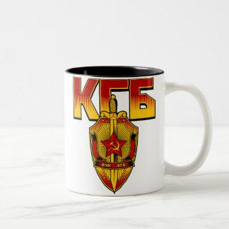 Russian KGB Badge Soviet Era Two-Tone Mug