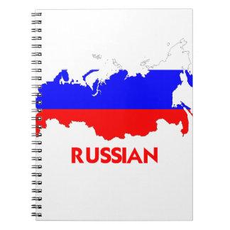 RUSSIAN MAP SPIRAL NOTEBOOK