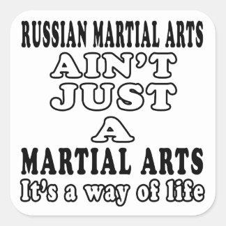 Russian Martial Arts Ain't Just A Martial Arts Square Stickers