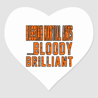 Russian Martial Arts Bloody brilliant Heart Stickers