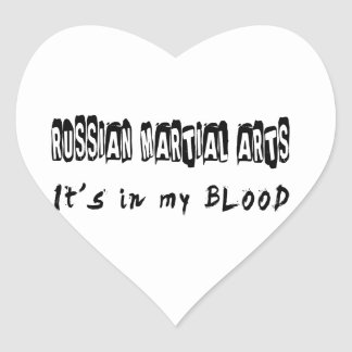 Russian Martial Arts It's in my blood Stickers