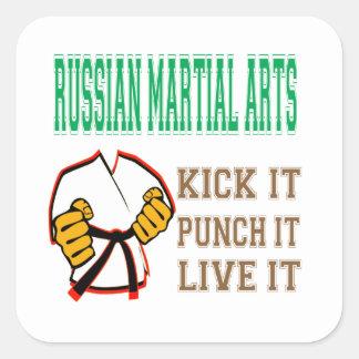 Russian Martial Arts Kick it, Punch it, Live it Sticker