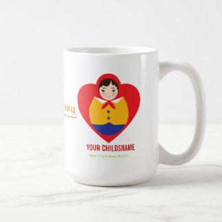 Russian Matroyshka Boy Adoption Gift Coffee Mug