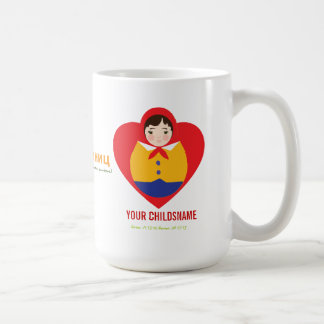 Russian Matroyshka Boy Adoption Gift Coffee Mugs