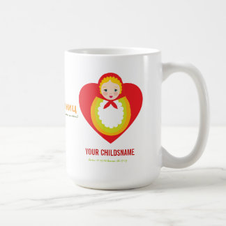 Russian Matroyshka Girl Adoption Gift Coffee Mugs