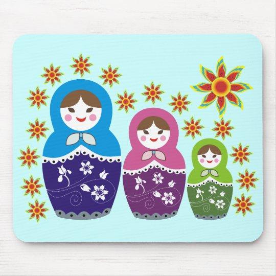 Russian Matryoshka Doll Mousepads. Mouse Mat