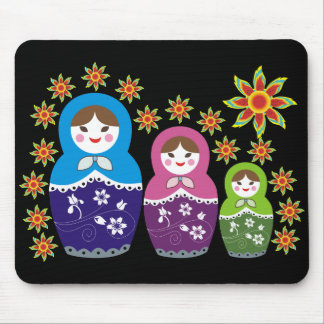 Russian Matryoshka Doll Mousepads. Mouse Mat