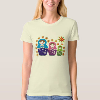 Russian Matryoshka Doll T-shirts
