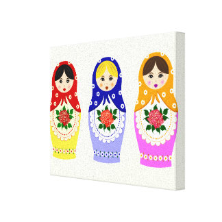 Russian matryoshka dolls canvas print