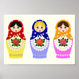 Russian matryoshka dolls poster