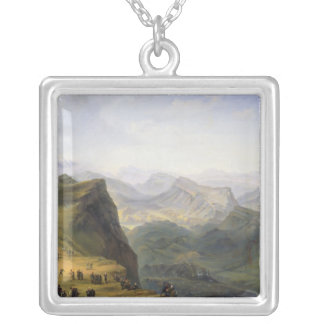 Russian Military Camp in Dagestan, 1895 Silver Plated Necklace