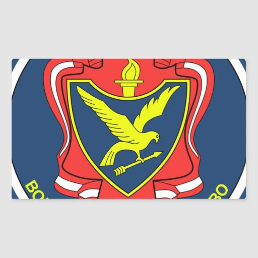 Russian military university of antiaircraft defens rectangle sticker