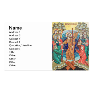 Russian mosaic icon business cards
