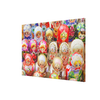 Russian Nested Dolls Canvas Print