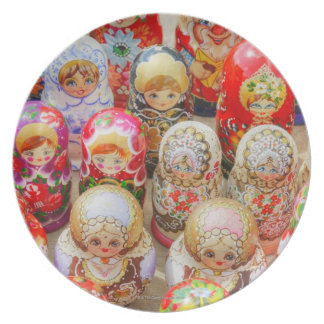Russian Nested Dolls Plate