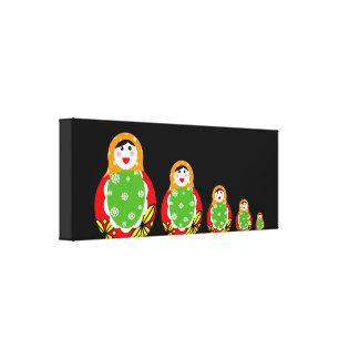 Russian nesting doll canvas prints