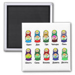 Russian Nesting Doll (Matryoshka) Fridge Magnets