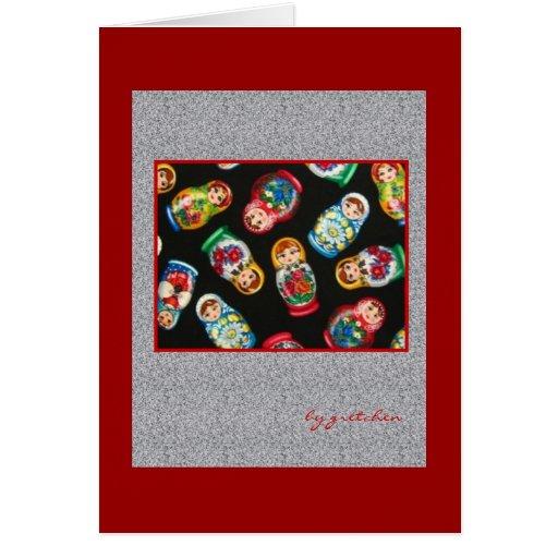 Russian Nesting Dolls Greeting Card