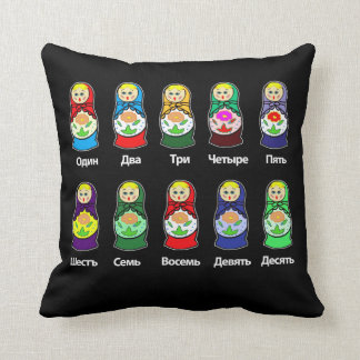Russian Nesting Dolls Throw Cushions