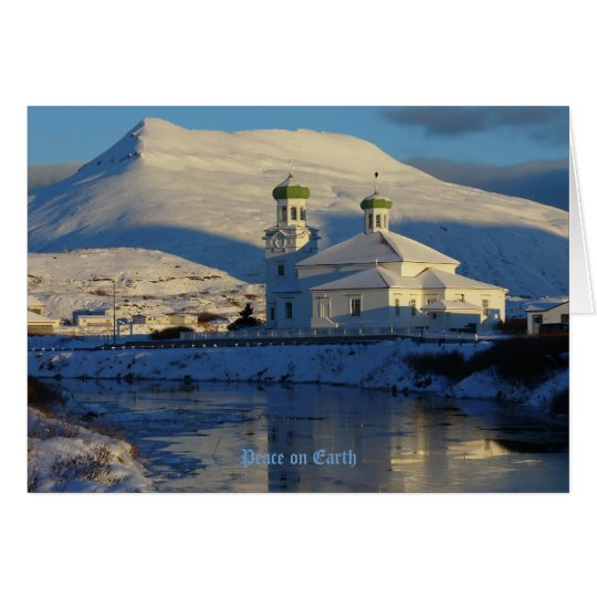 Russian Orthodox Church on Unalaska Island Card