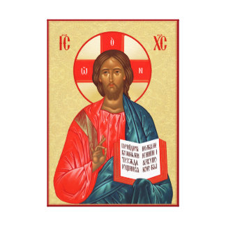 Russian Orthodox icon of Jesus Christ Stretched Canvas Prints