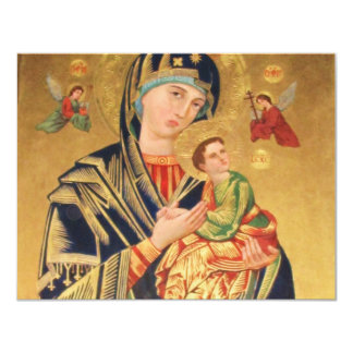 Russian Orthodox Icon - Virgin Mary and baby Jesus 11 Cm X 14 Cm Invitation Card