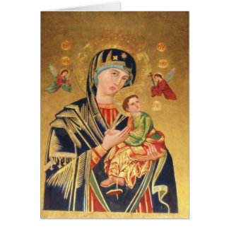 Russian Orthodox Icon - Virgin Mary and baby Jesus Greeting Card