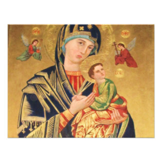 Russian Orthodox Icon - Virgin Mary and baby Jesus Announcements