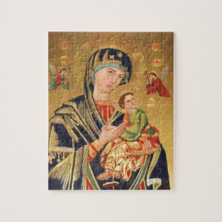 Russian Orthodox Icon - Virgin Mary and baby Jesus Jigsaw Puzzle