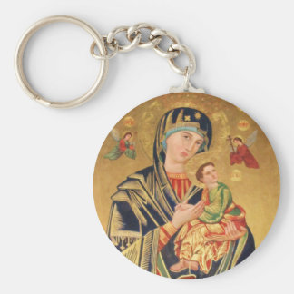 Russian Orthodox Icon - Virgin Mary and baby Jesus Key Ring
