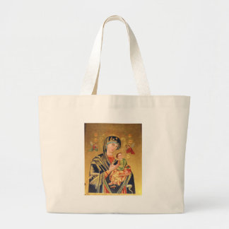 Russian Orthodox Icon - Virgin Mary and baby Jesus Large Tote Bag