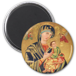 Russian Orthodox Icon - Virgin Mary and baby Jesus Magnet