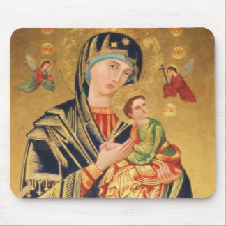 Russian Orthodox Icon - Virgin Mary and baby Jesus Mouse Mat