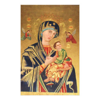 Russian Orthodox Icon - Virgin Mary and baby Jesus Personalised Stationery