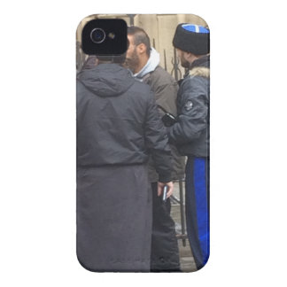 Russian Orthodox Priest outside Paris Notre Dame iPhone 4 Case-Mate Cases