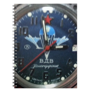 Russian Paratrooper Watch Face Spiral Note Books