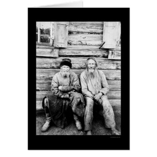 Russian Peasants Log Cabin 1895 Greeting Card