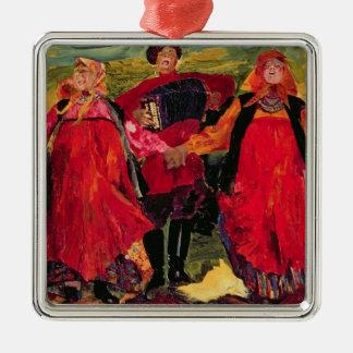 Russian Peasants Singing Christmas Ornament