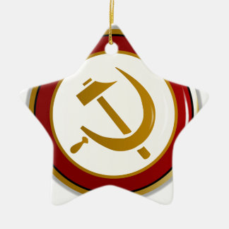 Russian Pin Badge Ceramic Star Decoration