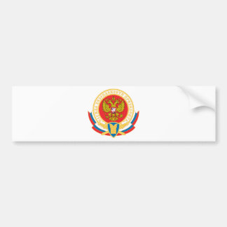 Russian president's security emblem car bumper sticker