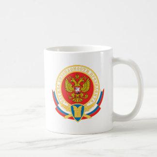 Russian president's security emblem coffee mug