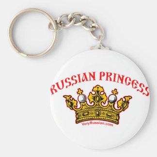 Russian Princess Basic Round Button Key Ring
