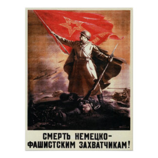 Russian Propaganda Poster from WWII