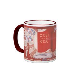 Russian Propaganda USSR USA Nuke Ringer Mug