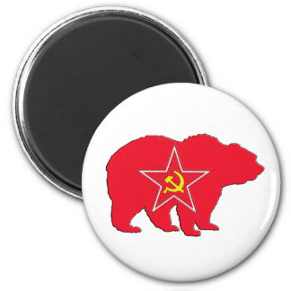 Russian red bear magnet
