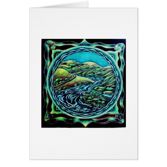 Russian River Mandala Card