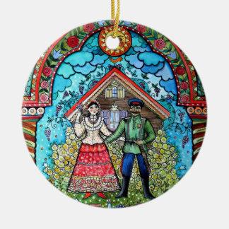 Russian Round Ceramic Decoration