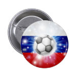 Russian soccer flag pinback buttons