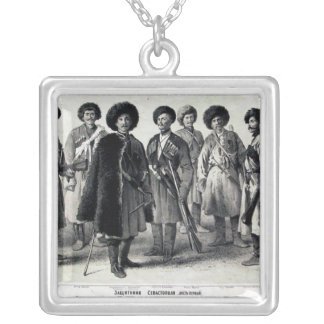 Russian Soldiers Silver Plated Necklace