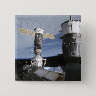 Russian Soyuz and Progress spacecrafts 15 Cm Square Badge
